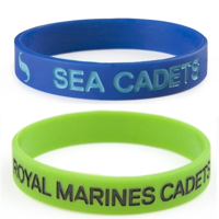 Picture of Wrist Band (with Sea Cadets or Royal Marines Cadets logo)