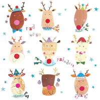 Picture of (Christmas Cards x 10) Red Nose Reindeers